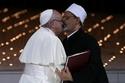 Pope Francis and Grand Imam of al-Azhar Sheikh Ahmed al-Tayeb...