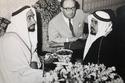 Sheikh Zayed With Ahmed Al Suwaidi and JB Kelly