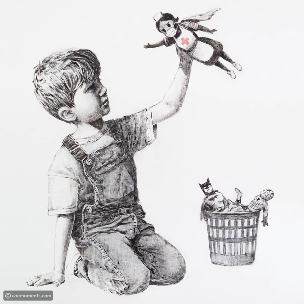 Check Out Over 120 Banksy Artworks in Mall of The Emirates