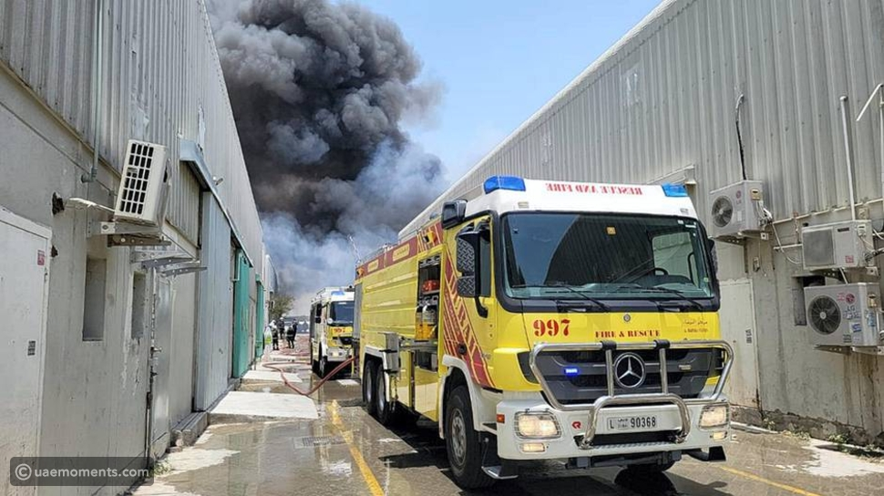 Pictures: Huge Fire Breaks Out in Dubai's Al Quoz Area