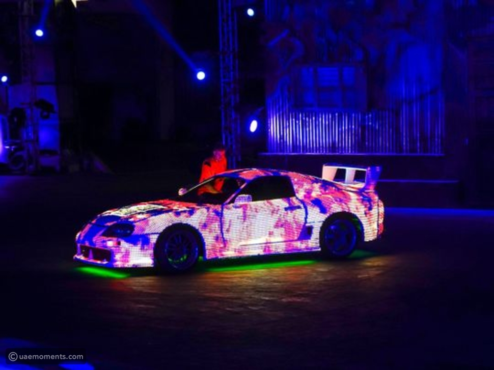 MOST LED LIGHTS ON A CAR! A GUINESS RECORD IN DUBAI