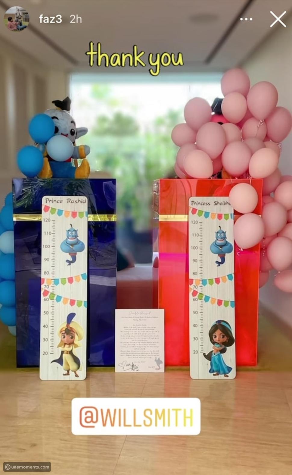 Will Smith Gifts Sheikh Hamdan's Baby Twins