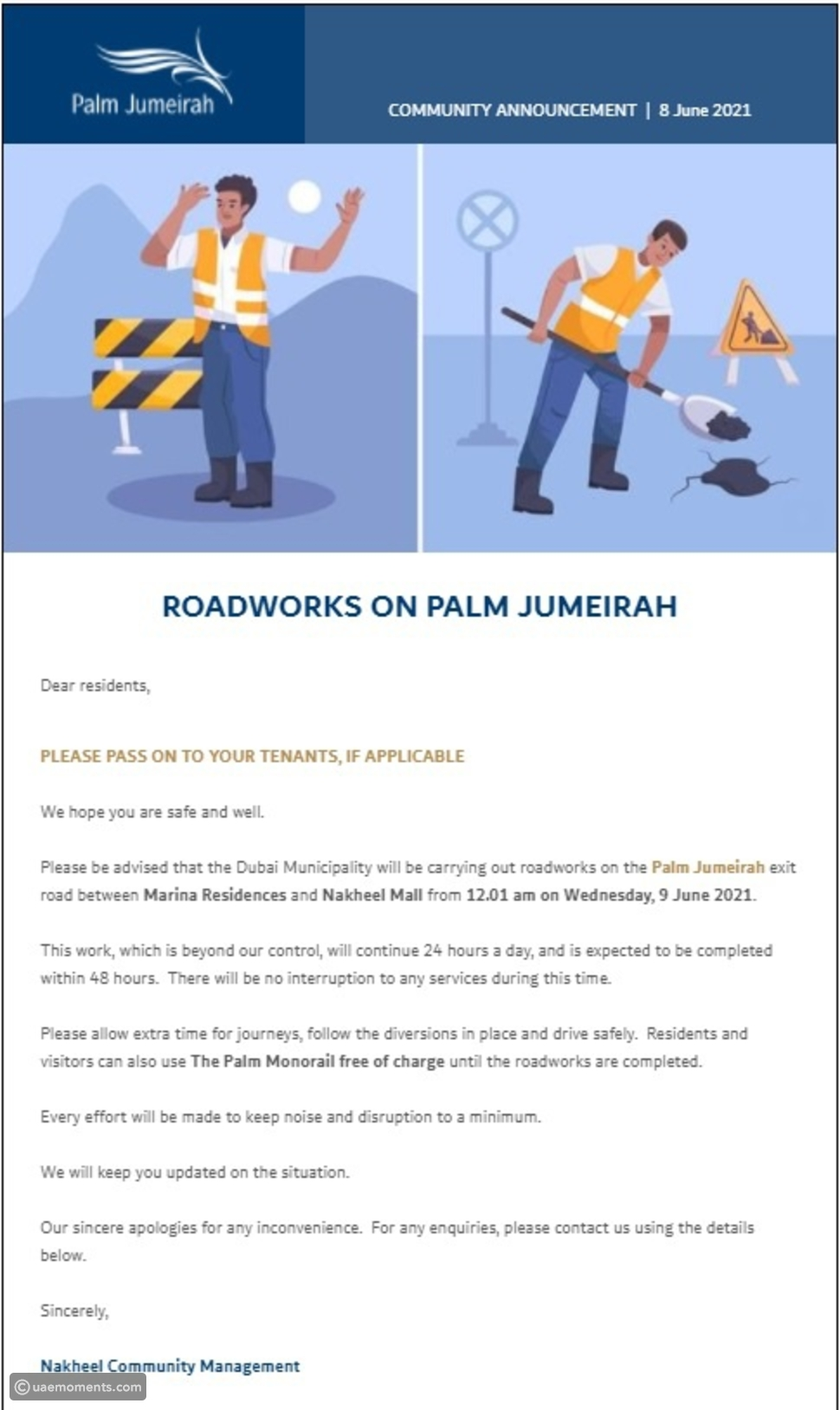 Beware of These Palm Jumeirah Road Delays