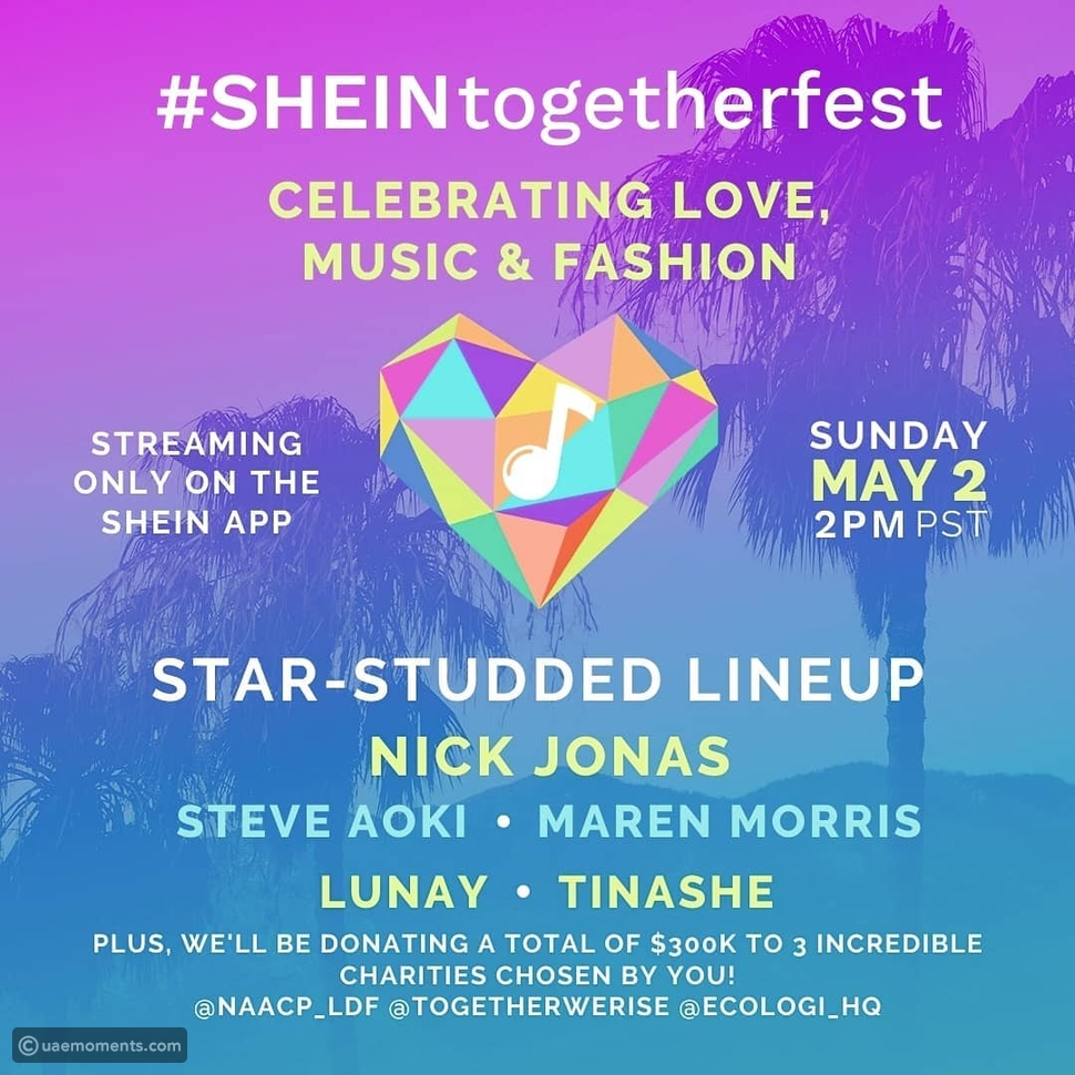 SHEIN Together-Fest to Feature Nick Jonas