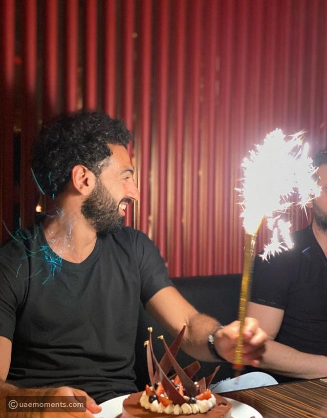 Mo Salah Celebrates His Birthday At Dubai Cafe