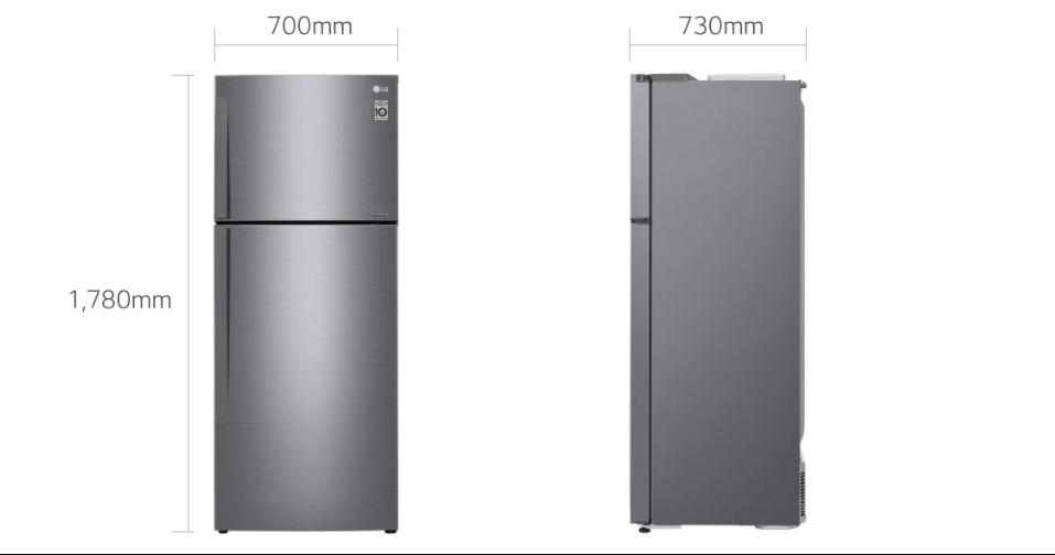 Lg top freezer fridge