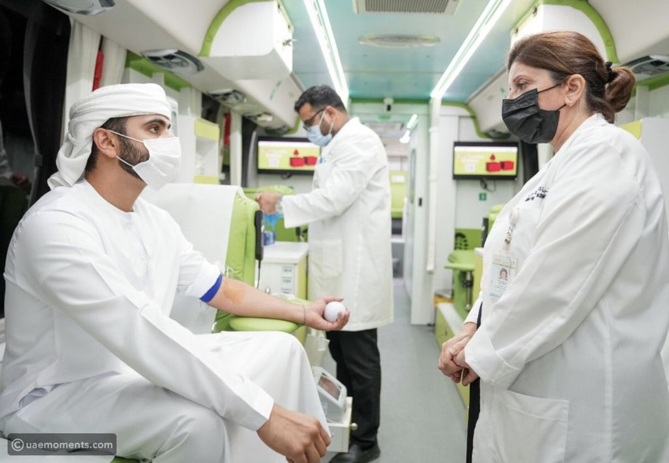 UAE Sheikh First Donor For 'My Blood for My Country'